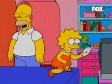 Homer dvd lisa feliz
