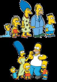 Simpsonowie - kiedyś i teraz