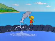 Lisa libertando Snorky