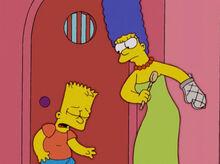 Marge colherada de pau bart