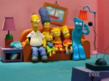 Simpsons gumby sofa