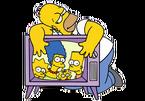 Homer e TV