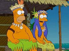 Homer marge bem vindos tahiti2