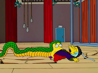 Slithers eats mr.burns