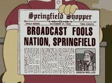 Lisa jornal dia das bruxas 1938