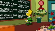 White Christmas Blues Chalkboard Gag