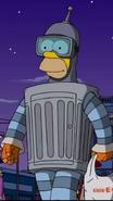 Homer as Bender