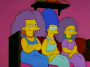 Marge with Patty and Selma young in I Married Marge, this was a picture