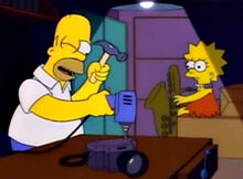 Homer conserto camera
