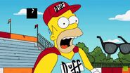 Homer scared as duffman