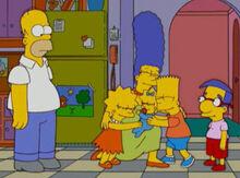 Marge lembra crianças homer não