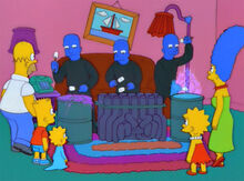 Blue man group piada sofá