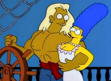 Marge sonhando pirata