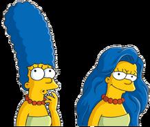 Marge hair down