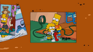 Bart force feeding Lisa