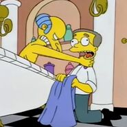 Burns strangling Smithers