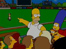 Homer não defende bart beisebol