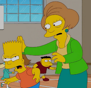 Krabappel hits Bart