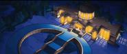 Rezydencja Burnsa nocą