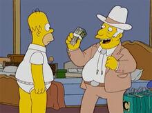 Homer texano rico dinheiro loja costington