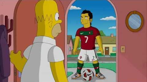Nike Homer Simpson VS Cristiano Ronaldo (Homer,Ronaldo,Nike)