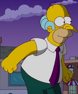 Homer as Mr Burns