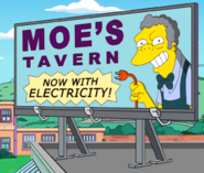 Moe's Tavern Now WIth Electricity