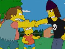 Nelson defende bart jimbo