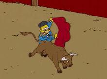 Vovô simpson toureiro touro