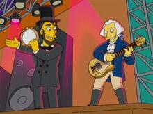 Lincoln e washington show rock
