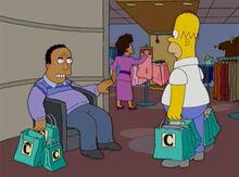 Homer aborrecido loja 18x18 dr hibbert