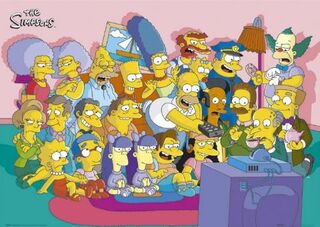 Poster Simpsons Cast