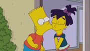 Bart Kisses Nikki