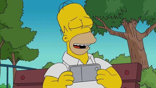 Homer i smartfon
