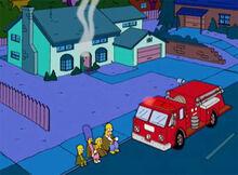 Simpsons casa caminhão bombeiros