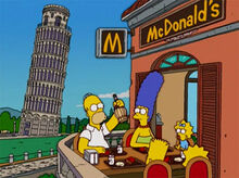 Simpsons pisa mcdonalds