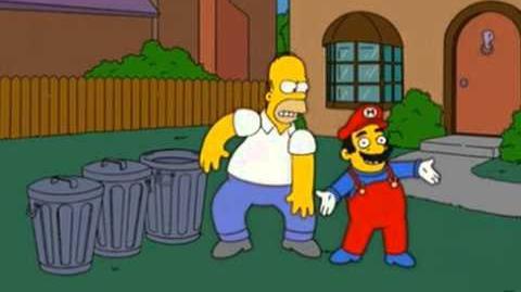 Super Mario on The Simpsons
