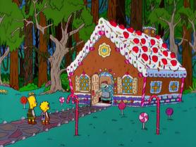 Bart e lisa e casa de doces