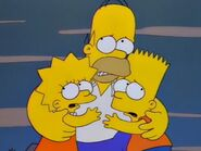 Homer Lisa Bart frighten