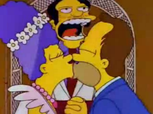 File:Homer's and Marge's Wedding in I Married Marge.png