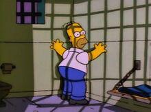 Homer preso desacato