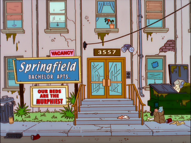 Springfield Bachelor Apartments | Simpsons Wiki | FANDOM powered ...