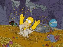 Homer tesouro monte fatso