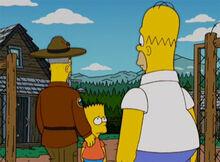 Bart triste homer acampamento