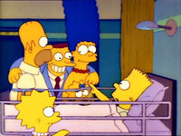 Bart zostaje potrącony przez samochód