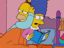Marge leitura homer excitado