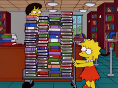 Lisa w bibliotece