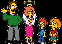 Członkowie rodziny Flandersów