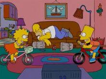 Homer dorme lisa bart bagunça