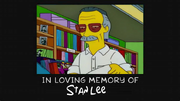Simpsons stan lee death
